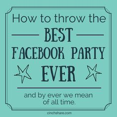 For the last few months I've been invited without my permission to a LOT of Facebook party groups - this got me thinking that maybe groups are not the best approach to throwing an amazing Facebook party. Read the reasons why here: http://goo.gl/90MZMy #facebookparty #directsales #events #socialmediamarketing #cinchshare