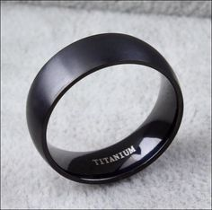 This titanium matt black ring for men is one of our favorite! its gorgeous right? super elegant, but a little badass… perfect for our kind of customers! Its selling itself and everyone that bought thi