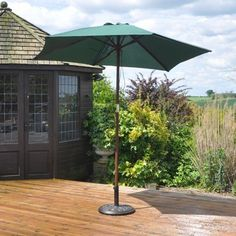 Measures m wooden Green garden parasol Size: Height- 225 cm x diameter - 240 cm Measures 36 mm hardwood pole with brass fittings House Canopy, Backyard Canopy, Canopy Bedroom, Garden Canopy, Diy Canopy, Tree Canopy, Canopy Outdoor, Canopy Tent, Window Canopy
