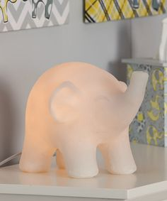 Elephant lamp from Zulilly