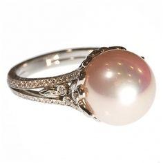 Beaudry Lavender Tahitian Pearl Ring.: