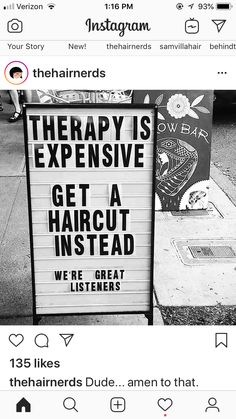 Ideas Hair Quotes Stylist Sayings Hairdresser Quotes, Hairstylist Quotes, Hair Salon Quotes, Hair Quotes, Salon Signs, Beauty Salon Interior, Beauty Salons, Salon Business, Hair Studio