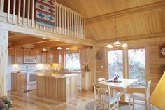 kitchens for log homes   8k) Log home pictures of kitchens from Cedar Log Homes of the Rockies ...