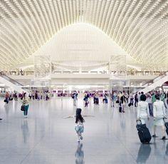 Rogers Stirk Harbour + Partners ha recibido el primer premio en el concurso convocado para construir la nueva terminal de Taoyuan, el aeropuerto internacional más grande de Taiwán situado a 40 kilómetros de Taipéi. El jurado ha distinguido tambi... Terminal, Grande, Travel, Pageants, International Airport, Residential Architecture, Airports, Door Prizes, Viajes