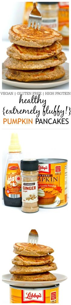 Healthy Extremely Fluffy Pumpkin Pancakes!