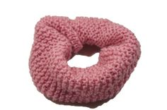 """chunky knitted scrunchie in vintage pink by TheScrunchiePuss on Esty - 20"""""""