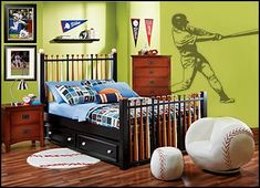 Attirant Baseball Bedroom Decorating Ideas   Baseball Bedroom Decor   Boys Baseball  Theme Bedrooms   Baseball Room Decor   Baseball Wall Murals   Baseball Wall  ...