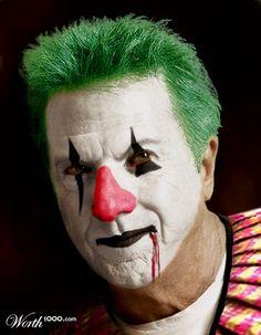 Evil Celebrity Clowns - Worth1000 Contests.    Dustin Hoffman