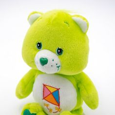 """Green DO-YOU-BEST BEAR New W Tags *2003* RARE *RETIRED Care Bear 5/"""" clip"""