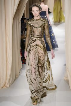 Valentino Couture - Spring 2015 - Gold Dress