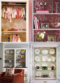 papel de parede nos armários