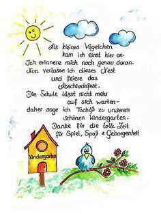 Kindergarten Abschiedsbrief an eltern