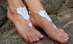 Barefoot Sandals Beach Wedding Shoes Wedding by luludress on Etsy