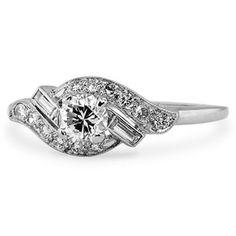 The Kinsella Diamond Wedding Ring Retro Engagement Ring