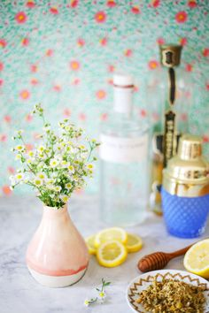 Chamomile Elderflower Tom Collins – A Beautiful Mess