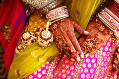 beautifully adorned hands