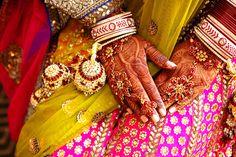 Traditional Hindu weddings...colors, henna, bangles, sari...incredible experience and beauty