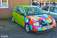 A VERY colorful VW Lupo... Learn more about foreign VW cars here: http://volkswagenutah.wordpress.com/category/something-borrowed/