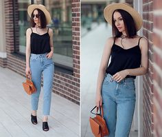 Get this look: http://lb.nu/look/8315517  More looks by Sonya Karamazova: http://lb.nu/sonyakaramazova  Items in this look:  Pull & Bear Jeans, Janessa Leone Hat   #casual #chic #street