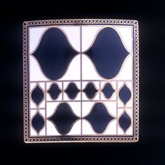 Josef Hoffmann Designed 1910 Produced by First Edition Gold-plated sterling sliver with vitreous enamel 2 x 2 in. Louis Comfort Tiffany, Joseph Hoffman, Neue Galerie New York, Vitreous Enamel, Sterling Sliver, Art Nouveau Jewelry, Metal Art, Arts And Crafts, Plating