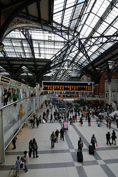 Liverpool Street Station, London. Spent an hour or so there in 2012 waiting on the train to Harwich.
