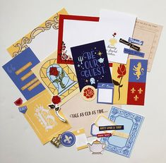 Project Mouse (Princess) Belle | Kit & Journal Cards PRINTED by Britt-ish Designs and Sahlin Studio