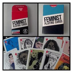 Feminist Playing Cards from Bluestockings Bookstore for $25.00
