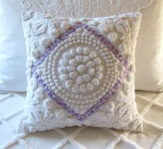 Chenille pillow.  Vintage fabric.