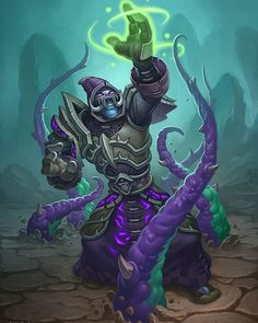 """#Art by Jim Nelson """"If you strike him down he shall become more powerful than you can possibly imagine."""" - Twilight Summoner #Hearthstone"""