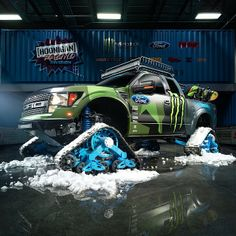 Making dreams a reality!@kblock43introduces his Ford F-150#RaptorTRAX…The world's fastest snowcat for backcountry snowboardin...