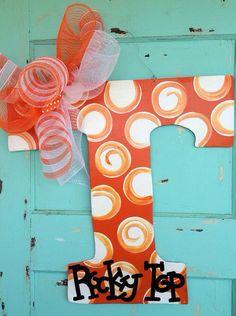Tennessee Volunteer Door hanger - football door hanger on Etsy, $40.00