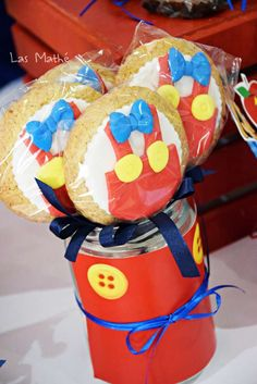 Cookie pops at a Pinocchio birthday party! See more party ideas at CatchMyParty.com!