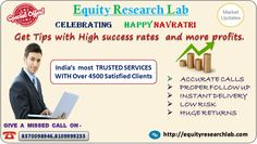 Equity research lab is best advisory firm in India. Equity Research Lab is an ISO 9001-2011 Certified And SEBI Registered Company, equity research lab provided best Stock Tips, Mcx Tips, Commodity ...