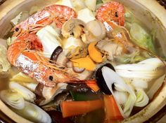 The most favored winter dish is nabe ryori, where many things are cooked together in a large pot and shared with others