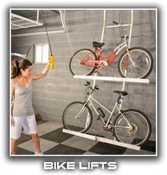Garage organization ideas horizontal bike storage from your great the garage organization company the garage organization company solutioingenieria Gallery