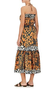 Warm Tonga Floral Silk Maxi Dress - Dresses - 505208827