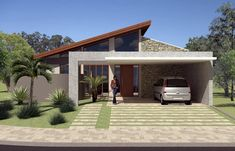 Modern House Floor Plans, Modern House Facades, Contemporary House Plans, Modern Architecture House, Chinese Architecture, Futuristic Architecture, Modern Houses, Modern Small House Design, Small House Interior Design