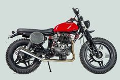 The humble Honda CB400N gets a shot of scrambler style from emerging Italian builder @Isidoro Francisco Stellino. See more images at http://www.bikeexif.com/honda-cb400n