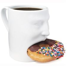 Funny Face 3D Mug | Holds your favorite donut or cookies within the mug itself.  Check out Phunky Mugs! #mugs #Funny #loveit #love