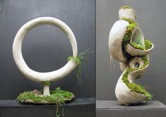 Robert Cannon, a Yale graduate and an amazing artist, offers some amazing moss and concrete sculptures that are alive enough to be a part of your garden or terrace. The artist loves to call his works Terraform Sculpture: a green art that grows in time. Concrete Sculpture, Concrete Art, Concrete Projects, Moss Art, Moss Garden, Cement Crafts, Pottery Sculpture, Green Art, Art Of Living