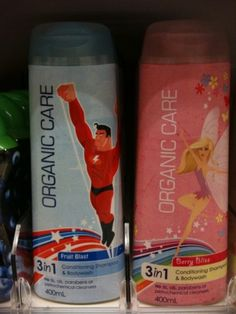 Boys and Girls organic care shampoo? He gets to be a mighty super hero and she gets to be a pretty fairy. Gender Stereotypes, Gender Roles, Social Science Project, Le Genre, Misandry, Cultural Studies, Positive Body Image, Pro Choice, Perspective