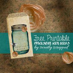 Free Printable Mason Jar tags by Sweetly Scrapped