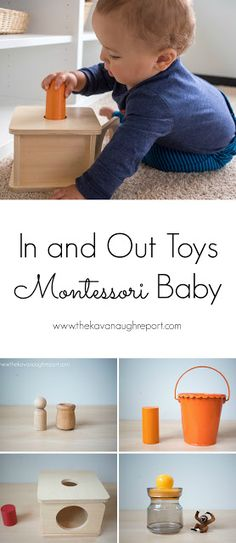 In and out toys for Montessori babies