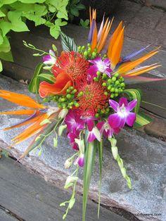 Tropical bridal bouquet.