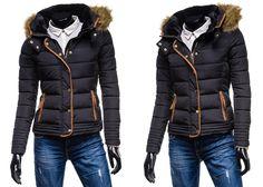 014A - CZARNY CZARNY | Ona \ Kurtki damskie \ Kurtki zimowe | Denley - Odzieżowy Sklep internetowy | Odzież | Ubrania | Płaszcze | Kurtki