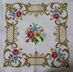 New Hand Embroidered Floral Pillow Case by ScandicDiscovery