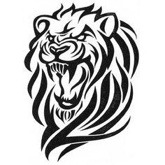 Lion Tribal - Tattoo decalcomanie - www.tattoo-sticker.com