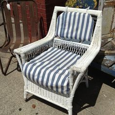 #shelleysshabbyshack#antique#wicker#chair#vintage#shabbychic#coastal#indoors#outdoors#distressed#comfy#porch#patio#guest room#$99 - @shelleysshabbyshack Wicker Patio Furniture, Wicker Chairs, Rattan, Guest Room, Porch, Coastal, Armchair, Shabby Chic, Journey