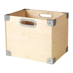 IKEA SNACK Box Plywood/galvanised 37x27x30 cm Stackable.