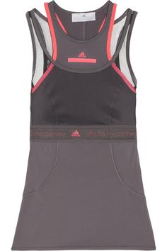 Adidas by Stella McCartney | Run Climalite® stretch and mesh tank | NET-A-PORTER.COM